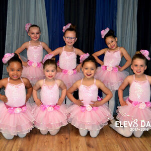 Adorable ballerinas in pink tutus